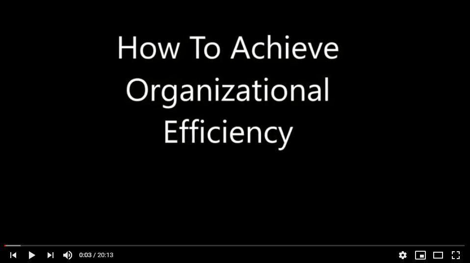 How To Achieve Organizational Efficiency